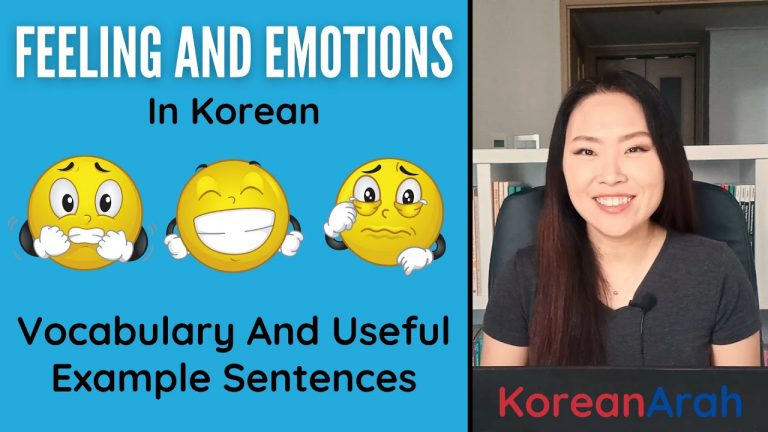 Feelings And Emotions In Korean | Korean Vocabulary Lesson